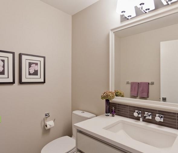 Необычные стены из гипсокартона в ванной
