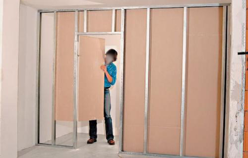 Дверь в перегородку из гипсокартона своими руками