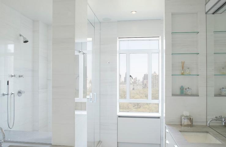 Полки из гипсокартона в ванной